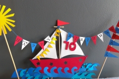Birthday Cake Topper - Yacht
