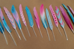 Feather Headdress - Hand Painted Feathers