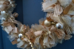 Golden Fabric Wreath