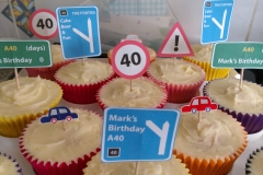 40th Cupcakes