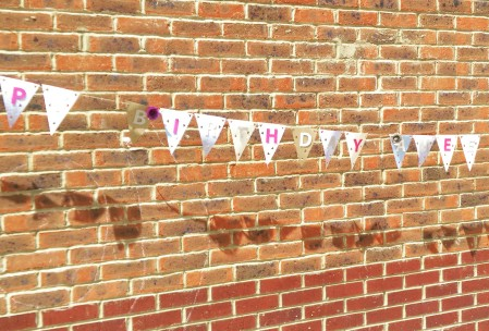Personalised Bunting Paper Roses