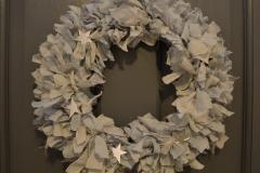 Soft Grey Star Fabric Wreath
