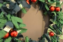 Holly Fabric Wreath